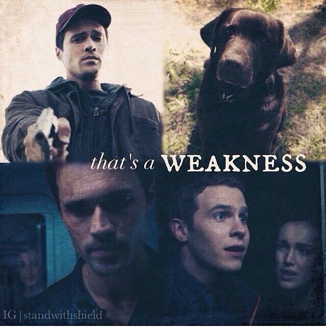 Agents of SHIELD | It's a weakness | I think he only did this to save Fitzsimmons lives... Like he did with the dog. He pretended to shoot it... But let it go