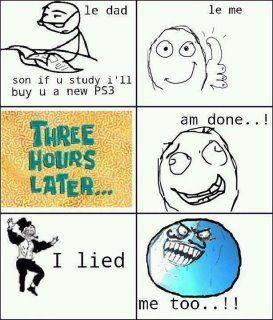 Dad And Son Both Trolled Each Other - Posted in Funny, Troll comics and LOL Images - Entertain Club