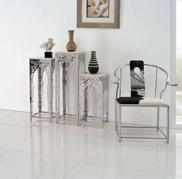 Металлические столы с декоративным узором из металла в интерьере разной высоты, купить и выбрать в интернет-магазине https://lafred.ru/catalog/catalog/detail/26557024778/