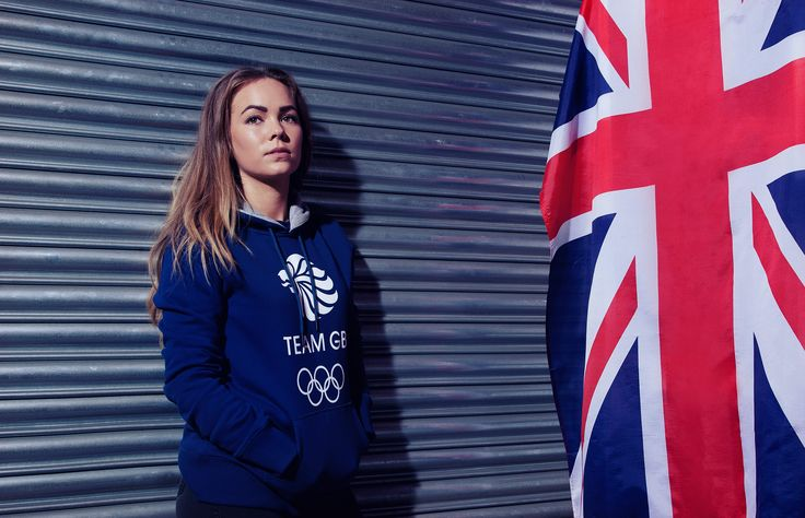 Team GB Core Logo Hoodie - Ladies - Navy