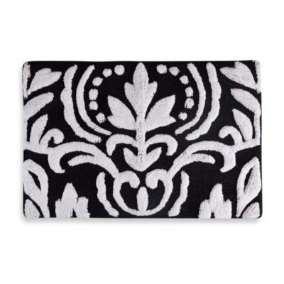 Captivating With Its Graphic Black And White Design, The Mia Bath Rug Will Make A Bold