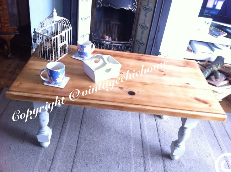 Rustic Chunky Solid Pine Country Vintage Coffee Table Www Facebook Com Vintagechichomeshabbychicfurniture Www