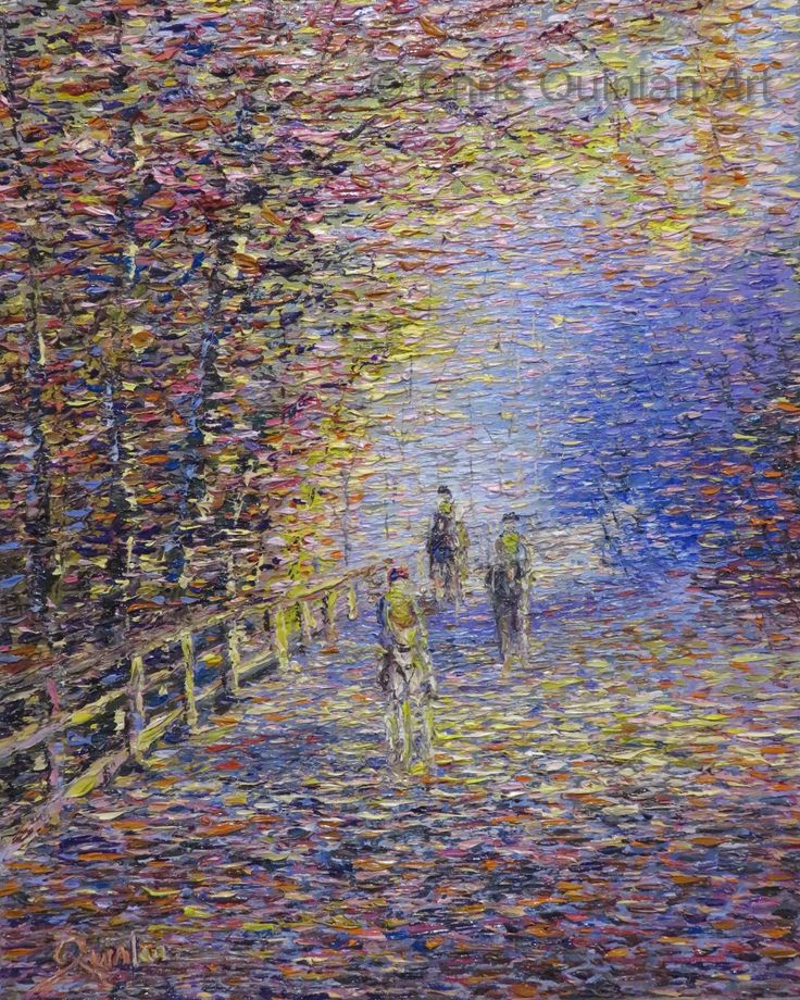 "Landscape Impressionism Artwork by Chris Quinlan - 20"" x 16""oil painting on canvas - http://quinlanart.com/117"