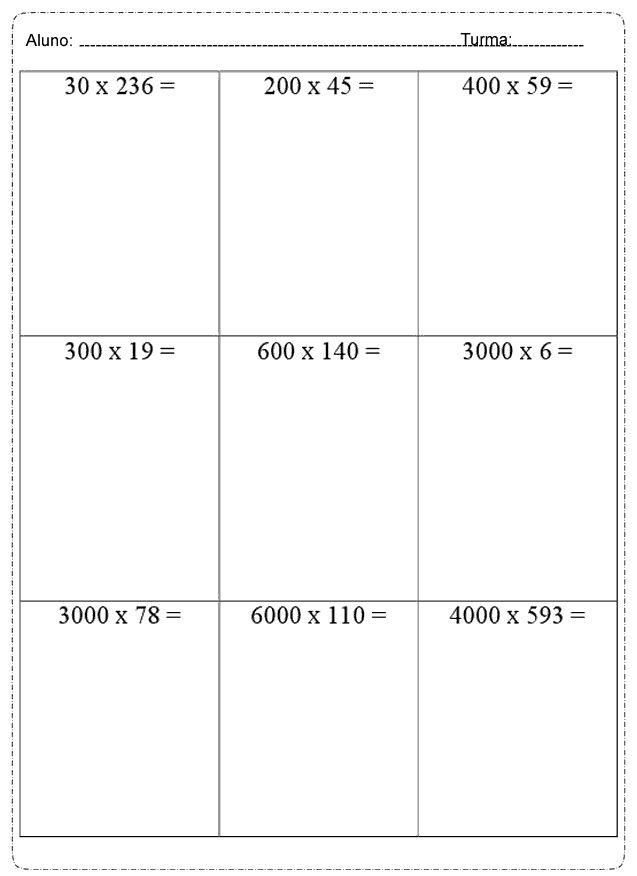 Multiplique os números inteiros