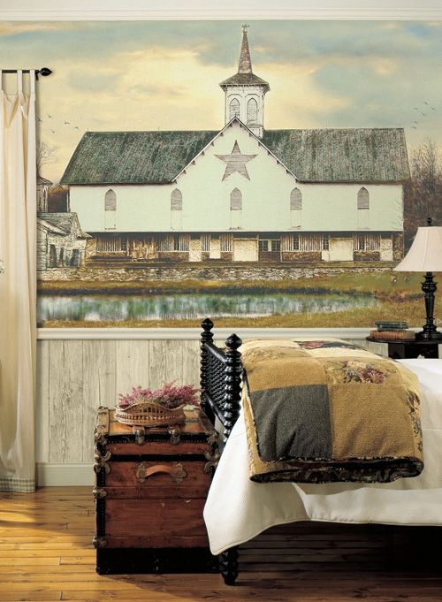 York Star Barn Mural