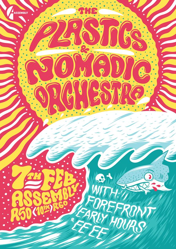 The Plastics & Nomadic Orchestra Poster on Behance by Ian Jepson