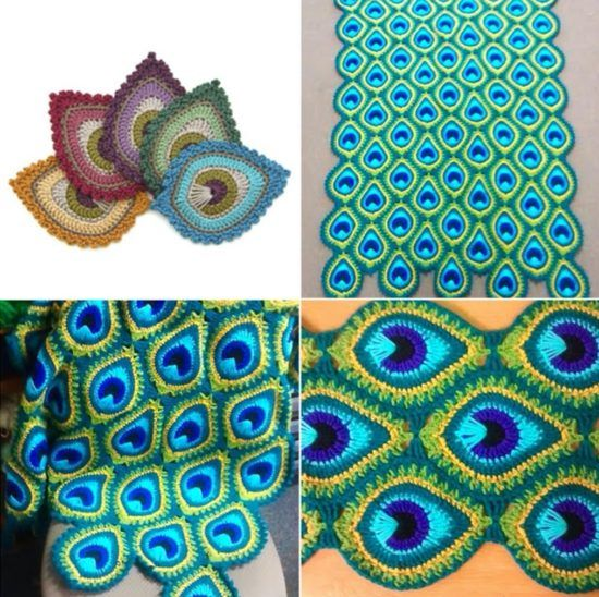Peacock Crochet Blanket Pattern Is A Favourite   The WHOot