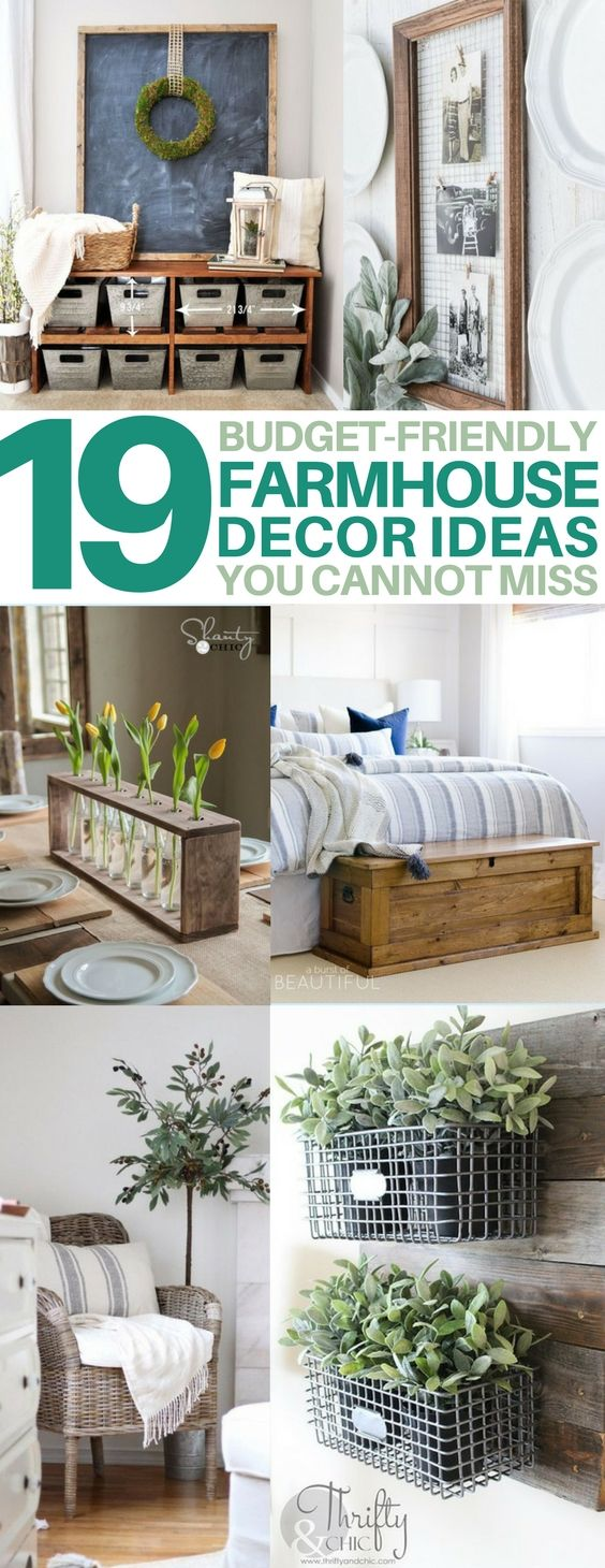 19 DIY Farmhouse Decor Ideas to Style