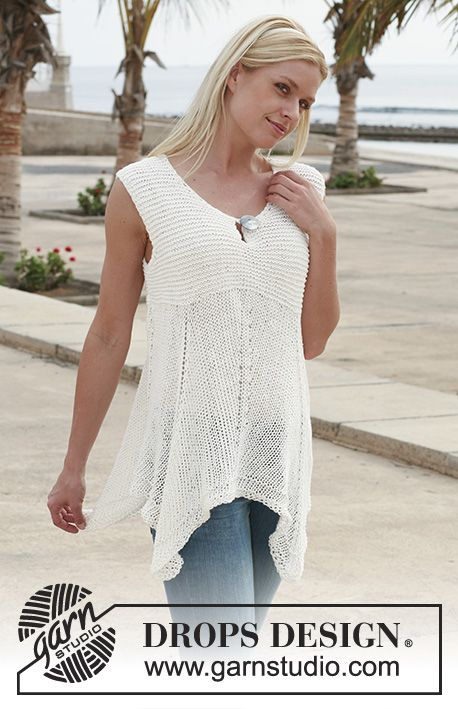 Wide DROPS top in Bomull-Lin. Size S - XXL.