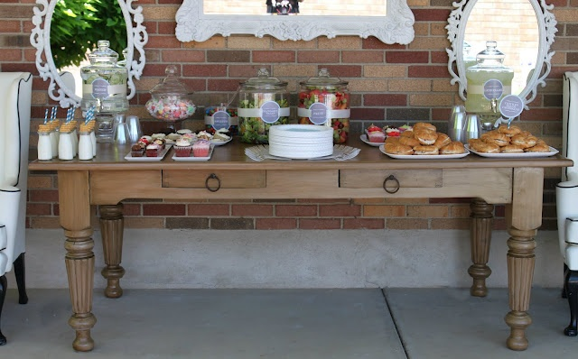 love the wing chairs and table display and those frames!: Food Display, Buffet Tables, Fruit Salad, Outdoor Buffet, Backyard Bash, Cute Ideas, Backyard Parties, Outdoor Parties, Parties Ideas
