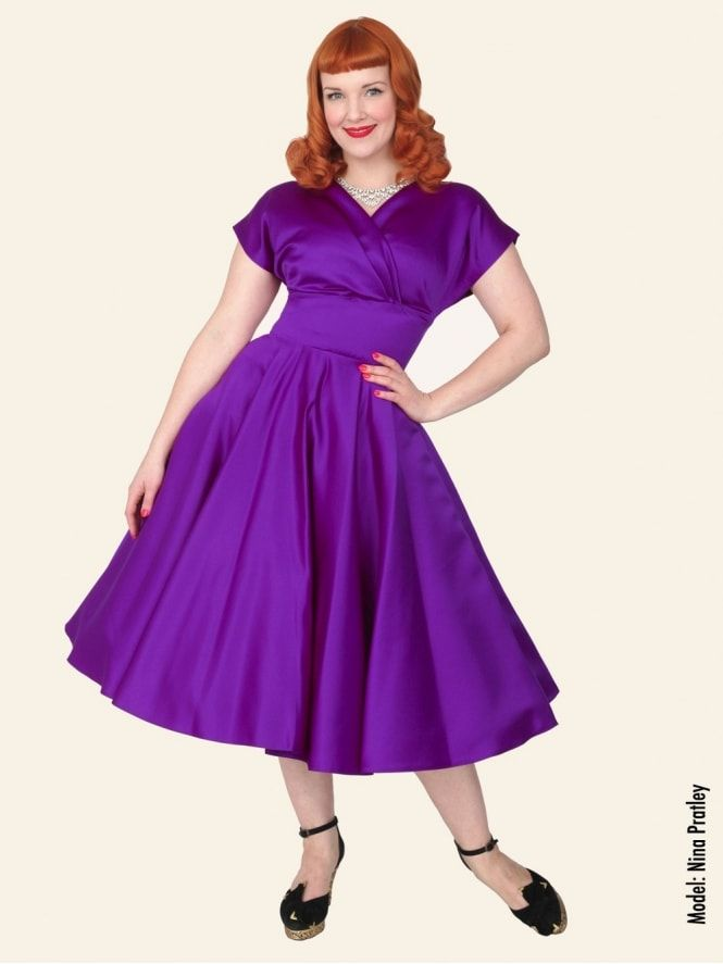 40s-1940s-Vivien-of-Holloway-Best-Vintage-Reproduction-Grace-Wrap-Circle-Dress-Mulberry-Purple-Duchess-Satin-Hollywood-Swing-Pinup