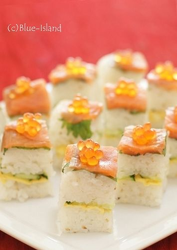 Smoked Salmon Oshizushi (Pressed Sushi) For Parties ♪