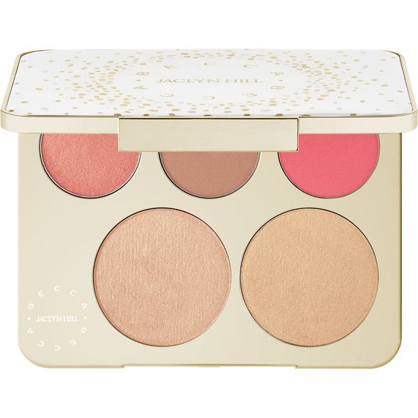BECCA Becca x Jaclyn Hill Champagne Collection Face Palette found on Polyvore featuring beauty products, makeup, palettes, highlight makeup, becca makeup, paraben free makeup, paraben free cosmetics and mineral cosmetics