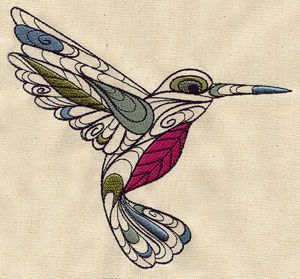 Doodle Hummingbird | Urban Threads: Unique and Awesome Embroidery Designs
