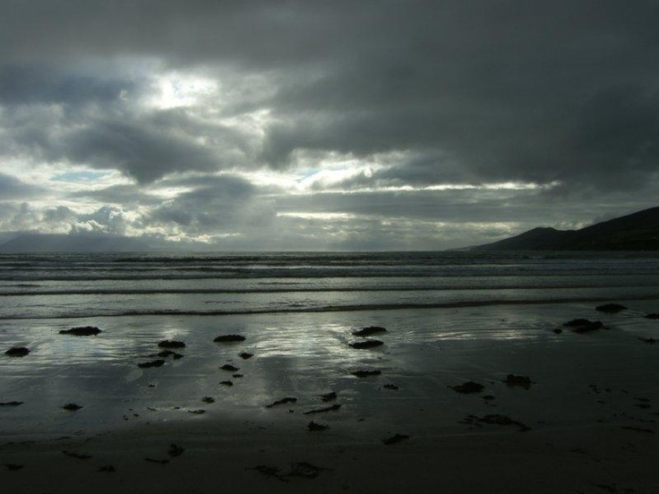 Inch beach after sunset