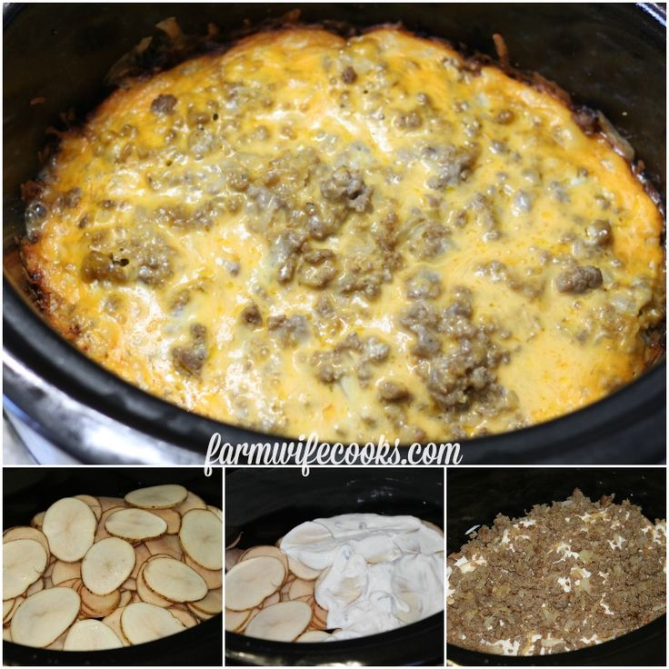 This Crock Pot Sausage Potato Casserole will quickly become a family favorite.