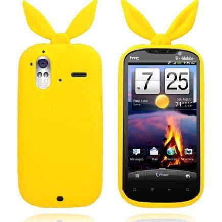Bunny (Gul) HTC Amaze 4G Deksel