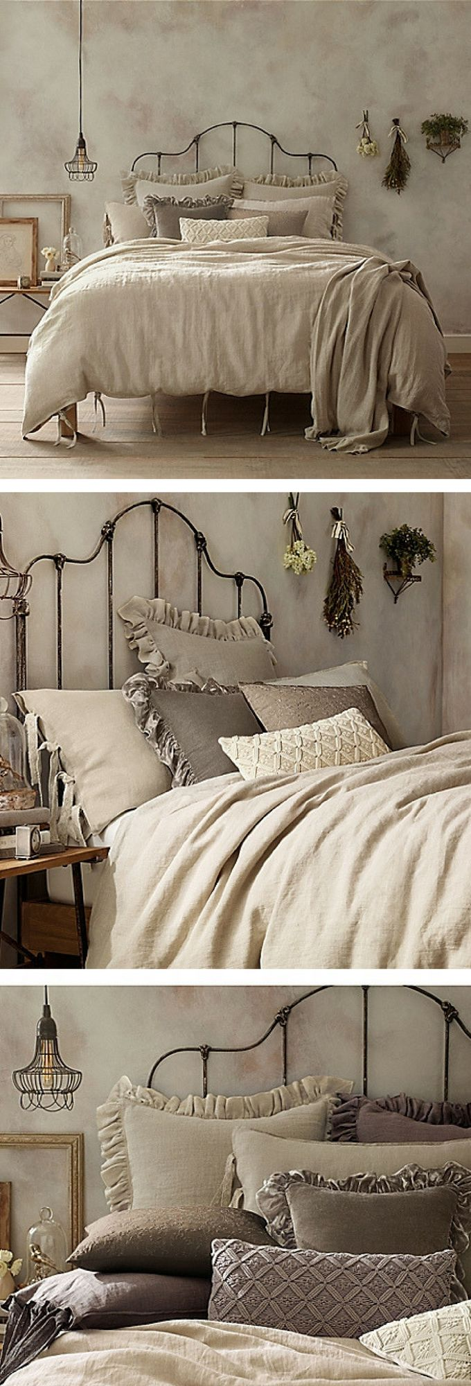 Add a touch of understated luxury to your bedroom with the casual yet cozy Wamsutta Vintage Washed Linen Duvet Cover. Crafted from the finest Belgian flax, the ultra-soft linen pillow sham brings a relaxed, lived-in look to any room's décor. #vintagestyle