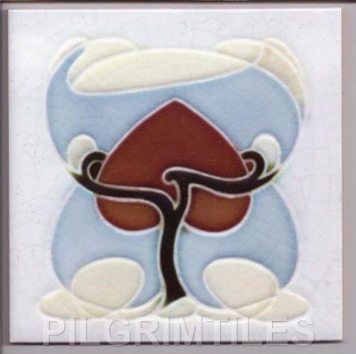 Art Nouveau Arts Crafts Tiles Plaque Fireplace Kitchen Bathroom | eBay