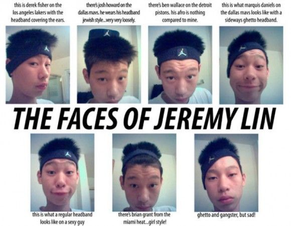 the faces of 15 year old jeremy lin