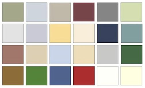 10 best images about historic house colors on pinterest for Colonial interior paint colors