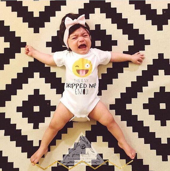 SKIPPED NAP EMOJI Onesie® / Emoji Onesie® / by ThePineTorch