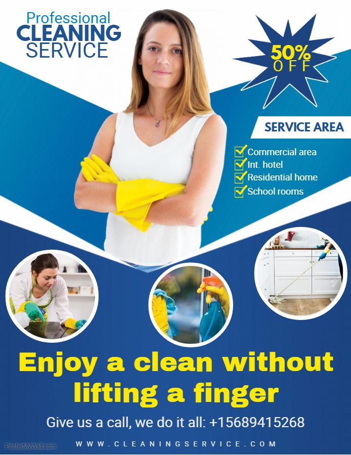 Professional Cleaning Service Flyer Design | Cleaning