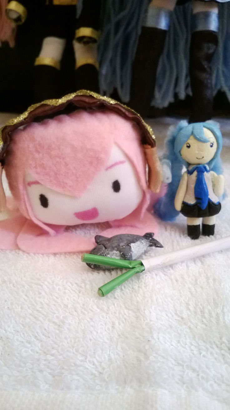 Tako Luka - Tuna Fish - Miniature Miku and leek :D