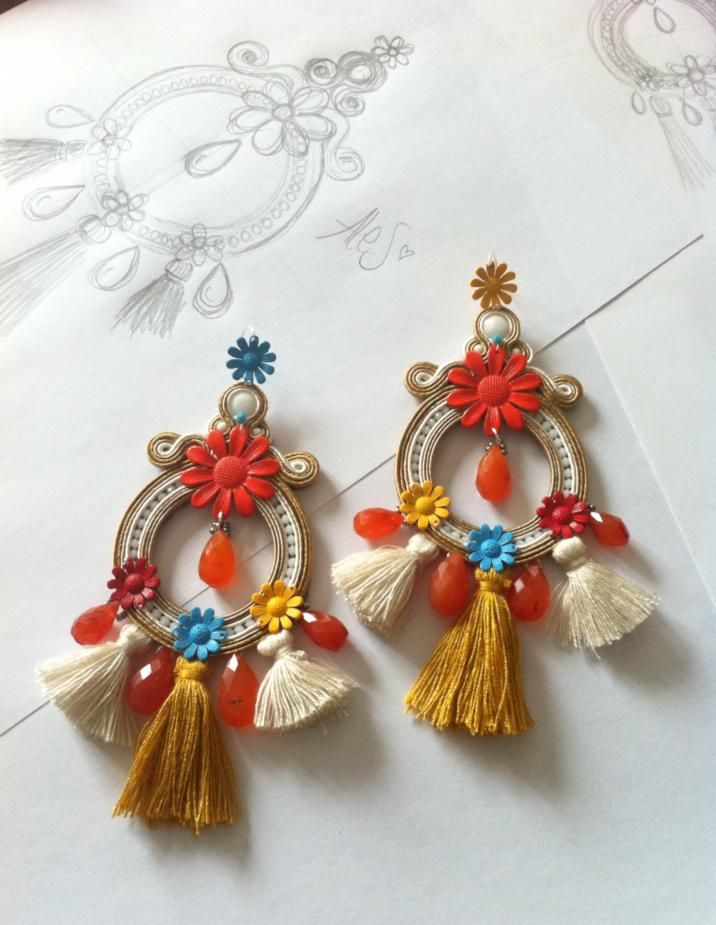 Adel's Laboratory: hippie style-big statement soutache earrings
