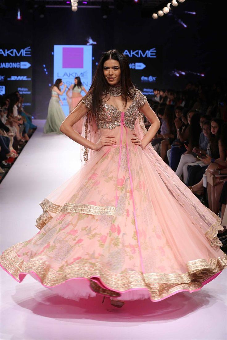 pink love lengha | Anushree Reddy's Royal Collection at Lakme Fashion Week 2015