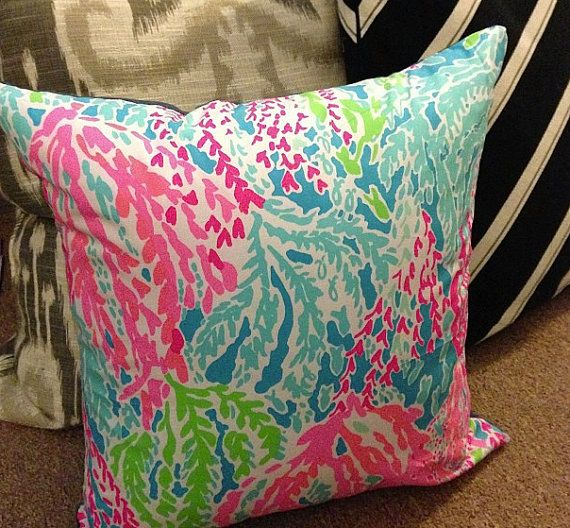 Let's Cha Cha Lilly Pulitzer 16x16 Pillow