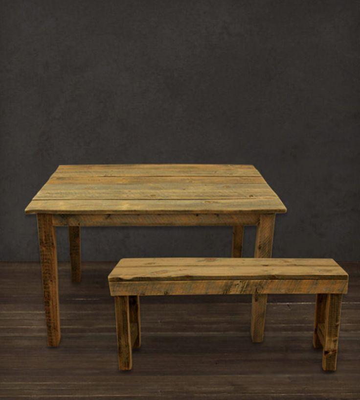 Farmhouse Kitchen Table & Bench