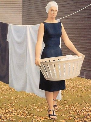 Alex Colville (Canadian, 1920-2013) - Woman at Clothesline, 1956-57