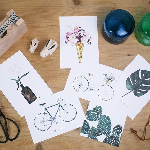 Neu im Shop: Tolle Postkarten von @leo_la_douce mit herzallerliebsten Aquarellmotiven. Dosen aus Glas und Schere von Strömshaga, Lineal und Maskingtape-Abroller von Bloomingville. Alles im Shop nordliebe.com