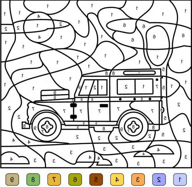 addition magique voiture 4x4 en couleur #dessina ...