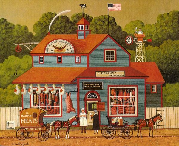 American Meat Store ~ Charles Wysocki*