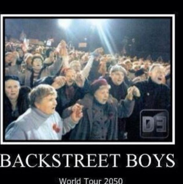 Backstreet boys world tour 2050! That's @alanamichele  and I on the front row!! Haha!!