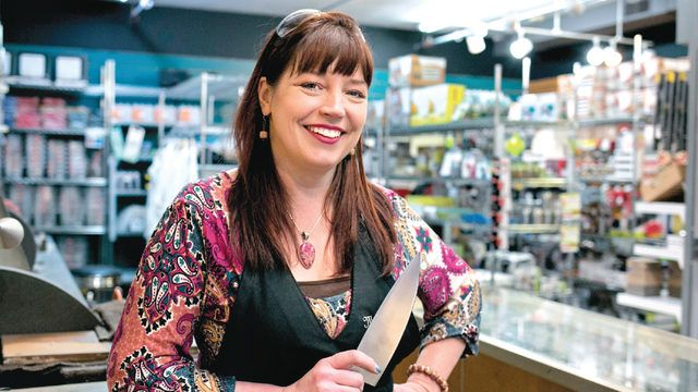 Michelle Dietz takes over quality cutlery store, Wisconsin Cutlery and Kitchen Supply store.
