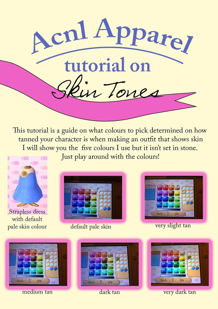 Tutorials on making clothes ACNL