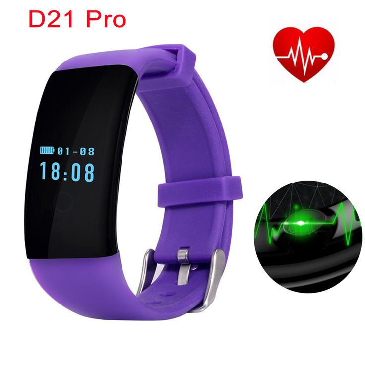 >> Click to Buy << D21 Pro Bluetooth Smartband Heart Rate Monitor Wristband Fitness Pedometer Sleep Tracker IOS Android Bracelet pk xiaomi miband 2 #Affiliate