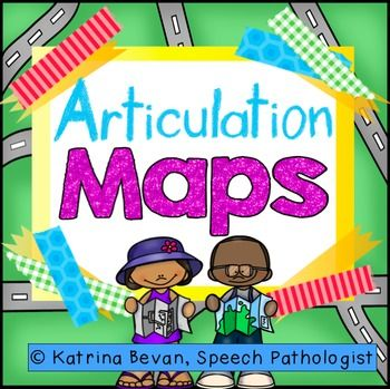 Articulation Maps are a great way to get your students talking!  These maps are jam packed with pictures and many details, all tailored to speech sounds.  Use the maps to:Label pictures- Each map has a list of pictures that focus on a different speech sound.