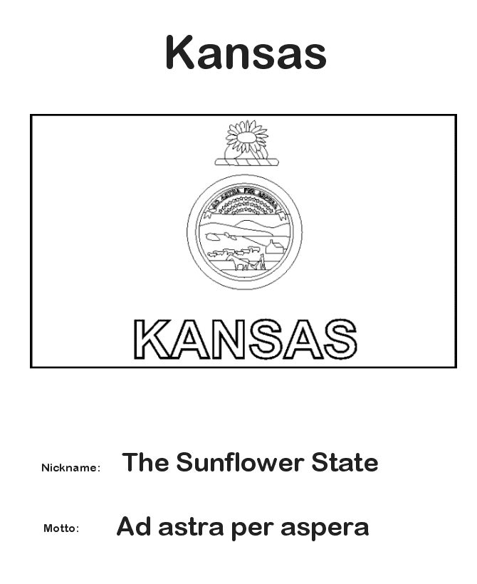 13 best windmills in kansas history images on pinterest for Kansas flag coloring page