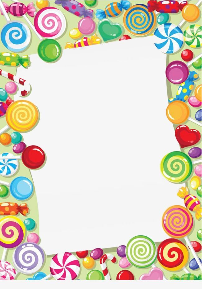 Candy Lollipop Border Lollipop Candy Embellishment Png
