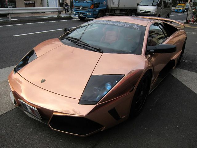 Chrome Car Wrap >> Orange Champagne Chrome Lamborghini | car wrap | ! Zoom Zoom | Pinterest | Lamborghini cars, Car ...