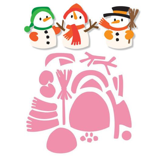 Marianne Design Collectables Cutting Dies - Eline's Snowman COL1413