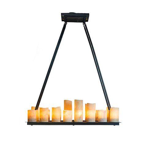 Vacker estetisk lampa som ger ett varmt sken till rummet. Lyktorna är gjorda i alabaster. Denna lampa finns även som rund modell samt som vägglampa. Bredd: 99 cm Djup: 36 cm Höjd: 120 cm