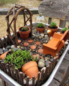 a terracotta succulent miniature garden, flowers, gardening, outdoor living, repurposing upcycling, succulents
