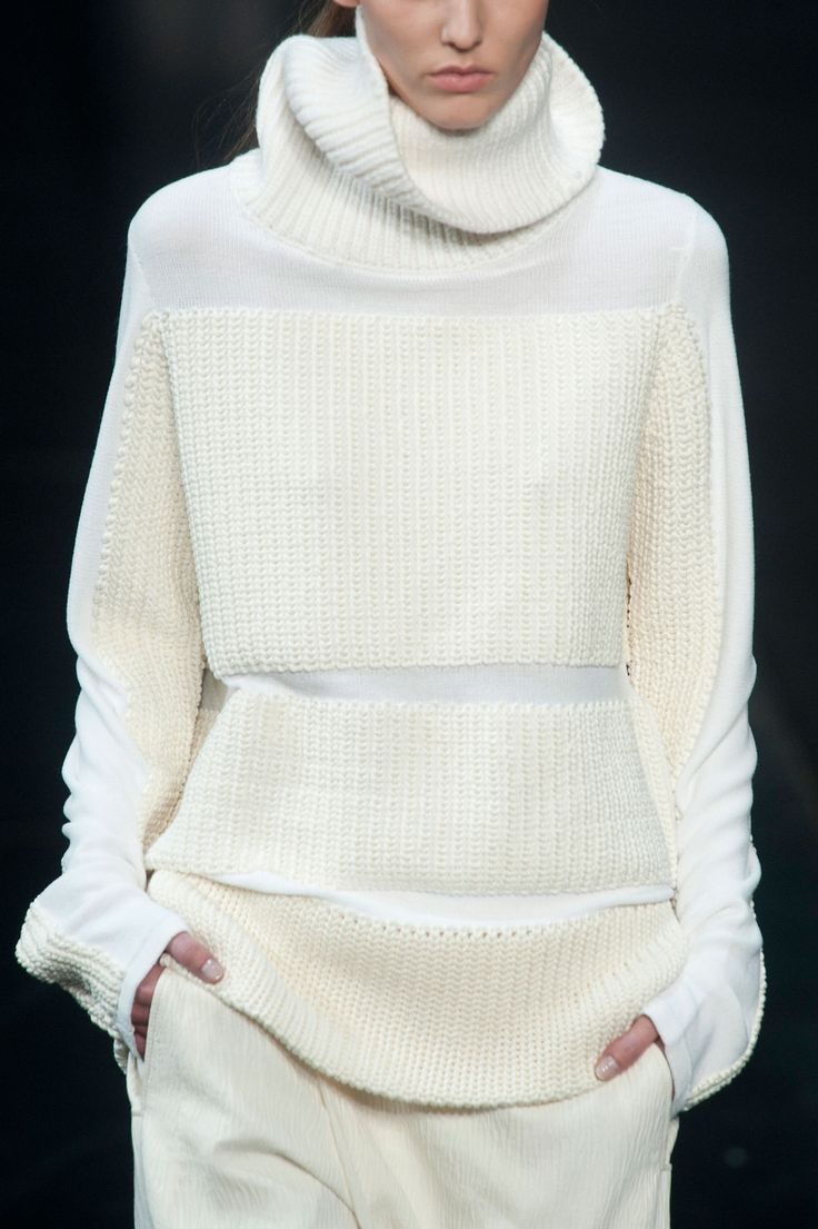 Helmut Lang Fall 2014- It's not your gramgram's ribbed #turtleneck #neoprep -