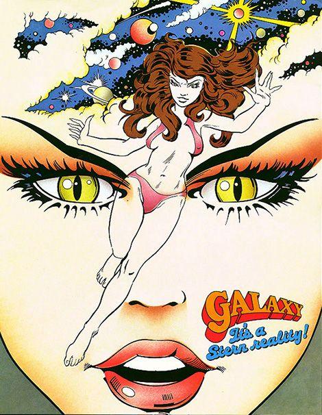 """Galaxy"" Pinball Flyer (Stern, 1980)."