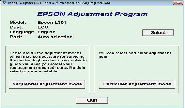 Epson L301 Resetter Adjustment Program Epson Epson Printer Printer